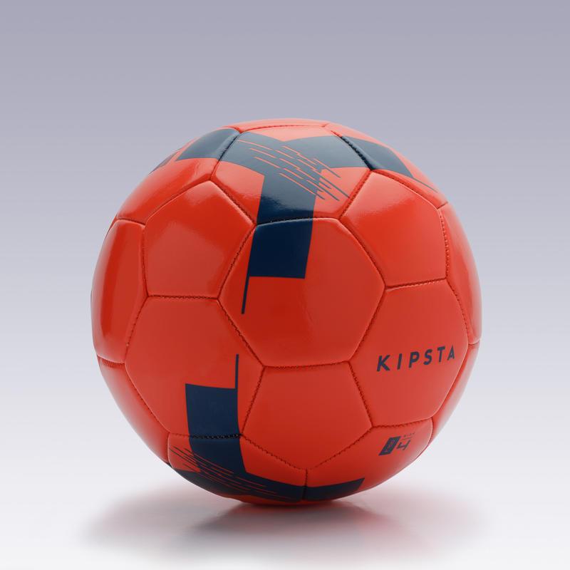 Balón de Fútbol F100 talla 4 (de 8 a 12 años) rojo