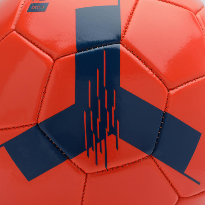 4號足球F100-紅色(8至12歲兒童適用)