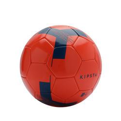 Fussball F100 Light Grösse 4 (Kinder 8 bis 12 Jahre) rot