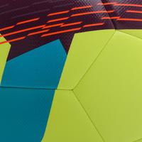 Гібридний футбольний м'яч F500, розмір 5 - Неоновий жовтий