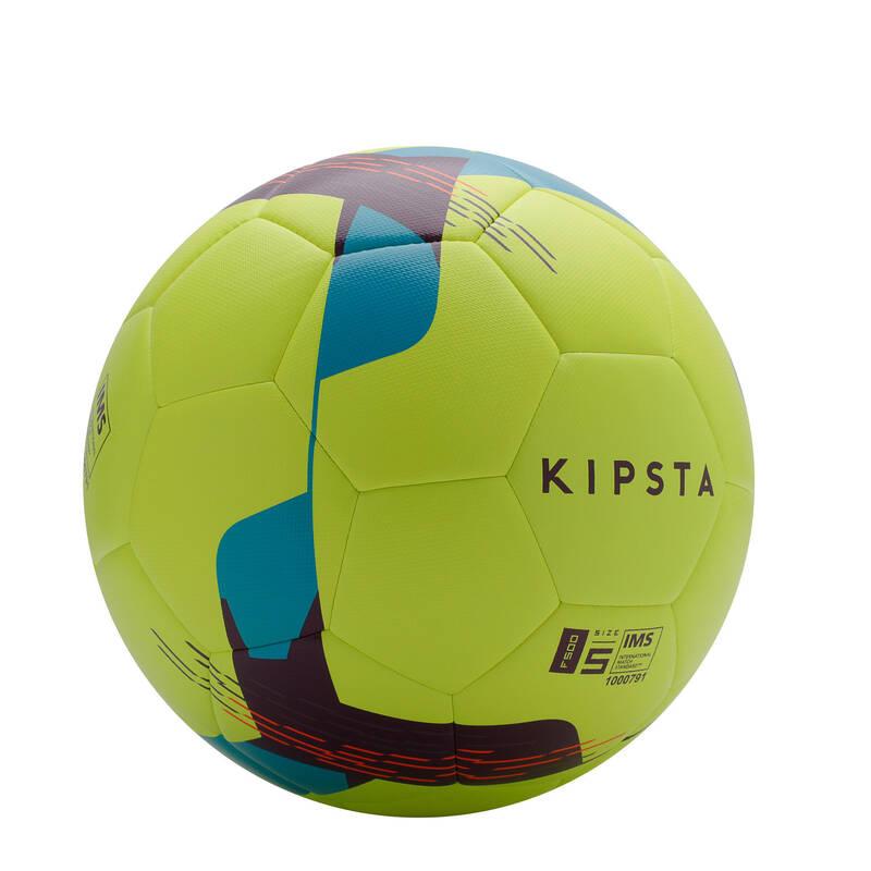 FOTBALOVÉ MÍČE Fotbal - MÍČ F500 HYBRIDE VEL. 5 ŽLUTÝ KIPSTA - Fotbalové míče a branky