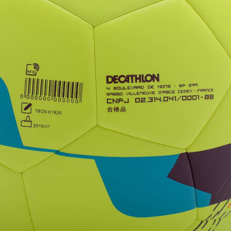 Hybrid Size 5 Football F500 - Neon Yellow