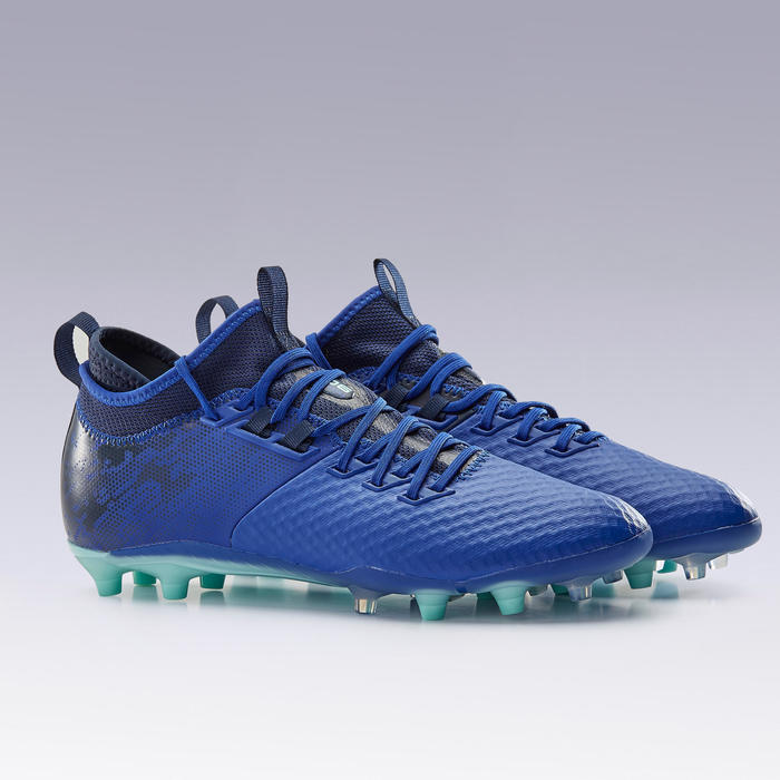 Voetbalschoenen voor volwassenen Agility 900 Mesh MiD FG droog terrein blauw