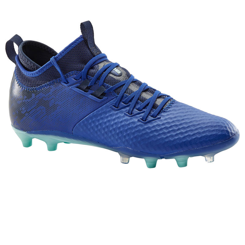 Adult Firm Ground Football Boots Agility 900 Mesh MiD - Blue