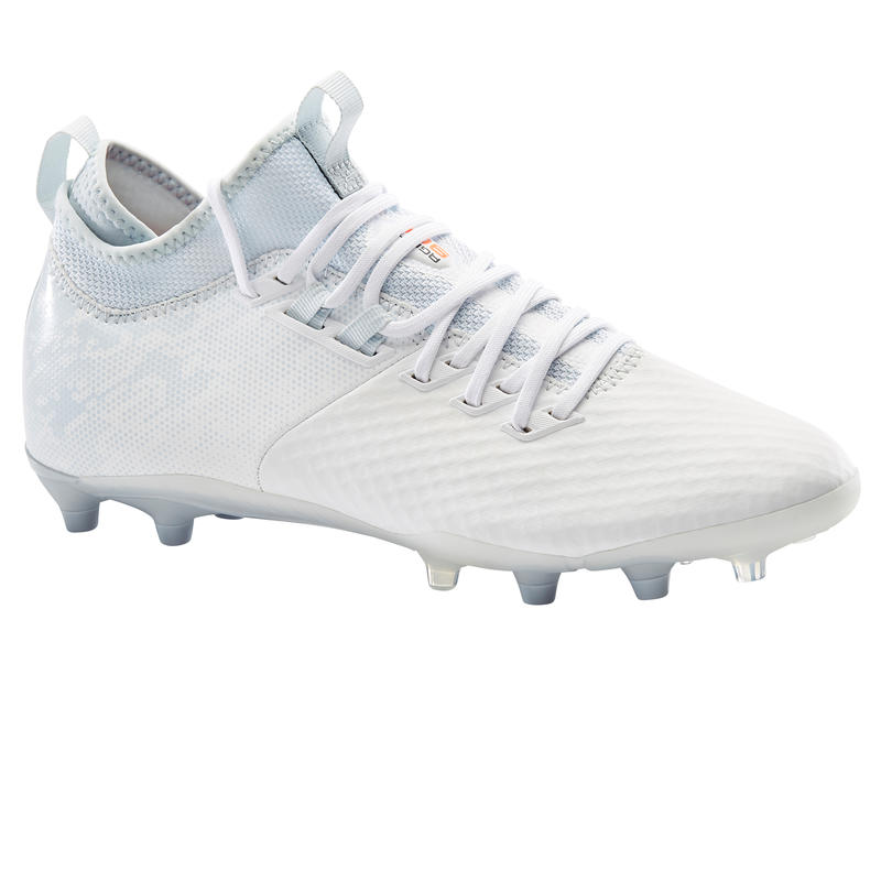 Adult Firm Ground Football Boots Agility 900 Mesh MiD - White