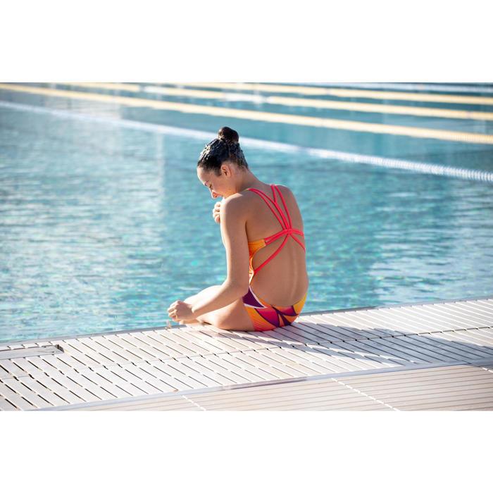 Pince nez synchro pour la natation artistique synchronisée couleur chair.