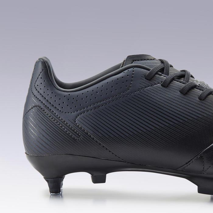 Chaussure de football adulte terrain gras Agility 540 cuir SG noir