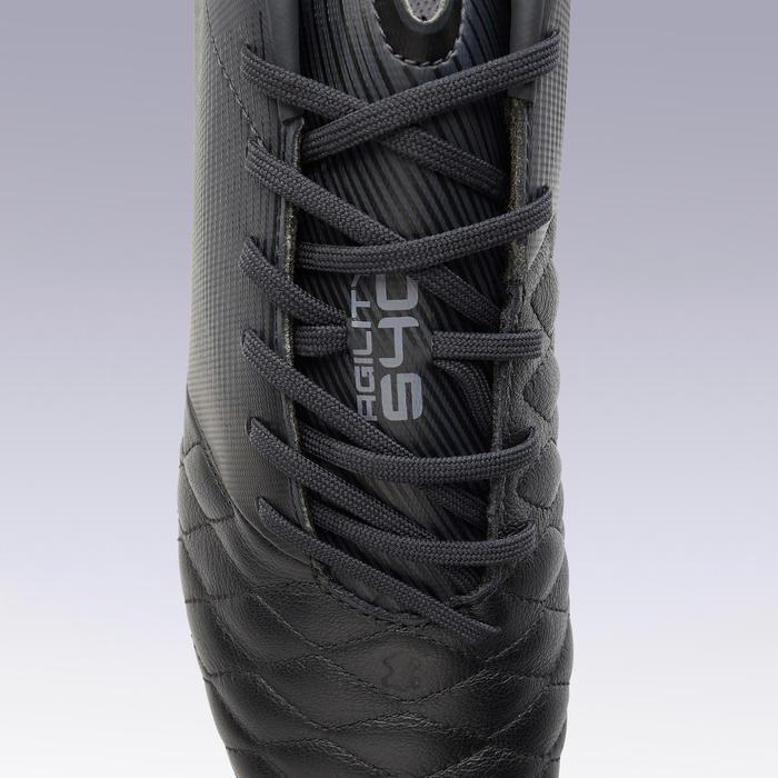 Voetbalschoenen voor volwassenen Agility 540 leer SG drassig terrein zwart
