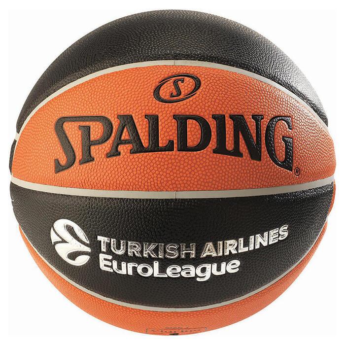 Ballon de basketball TF 1000 EUROLEAGUE SPALDING taille 7 pour garçon et adulte