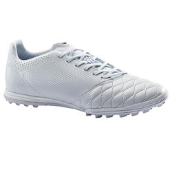 Adult Leather Hard Ground Football Boots Agility 540 - Grey/Blue