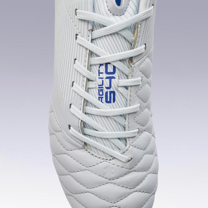 成人大釘牛皮足球鞋Agility 540 -灰色/藍色
