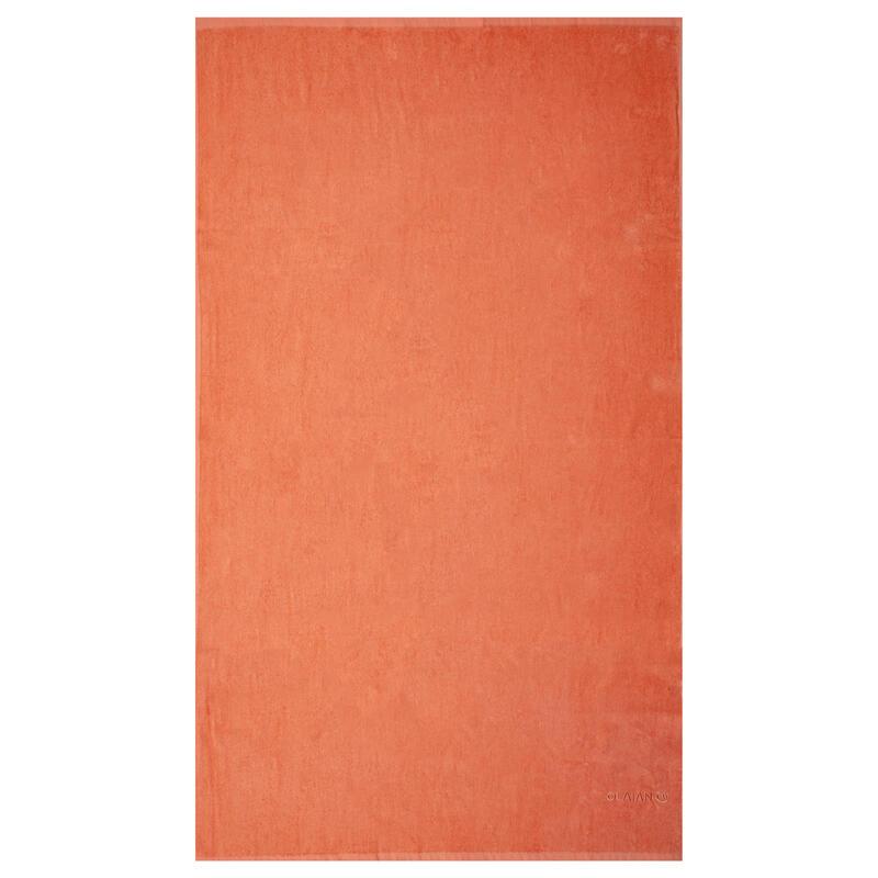 Badhanddoek groot perzikkleur 145 x 85 cm L
