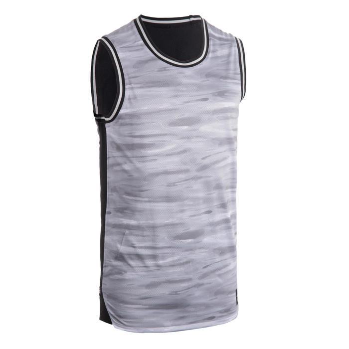Men's Reversible Sleeveless Basketball Jersey T500R - Blue/Red