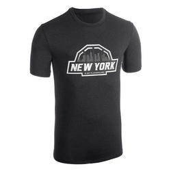 Basketbalshirt voor heren TS500 zwart/antraciet
