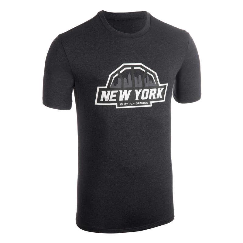 MAN BASKETBALL OUTFIT Basketball - T-Shirt TS500 Black Anthracite TARMAK - Basketball Clothes