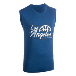 T-SHIRT / MAILLOT DE BASKETBALL SANS MANCHE HOMME /TS500 BLEU ROI / LOS ANGELES