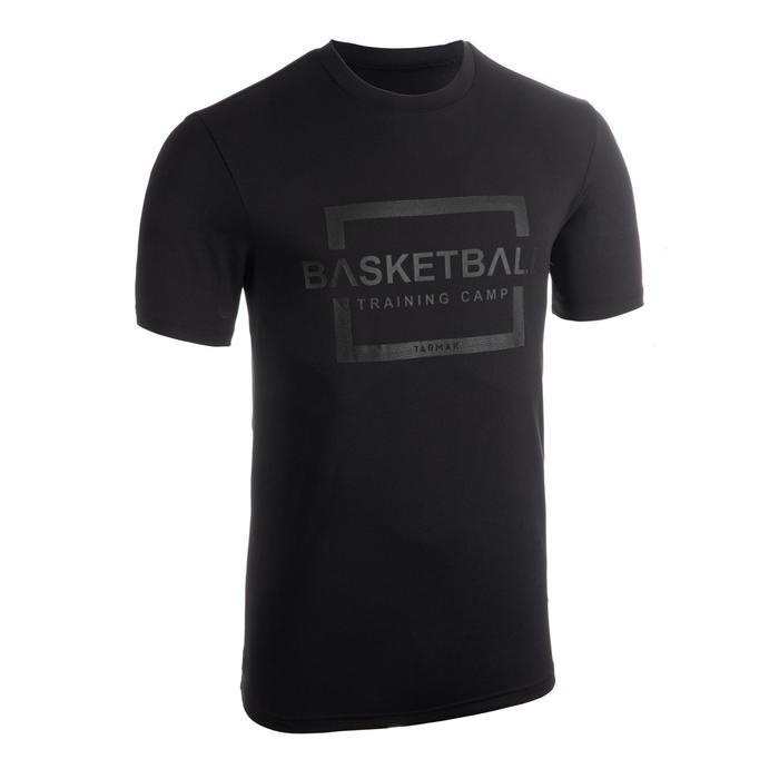 男款籃球T恤/運動衫TS500-灰色Training Camp字樣