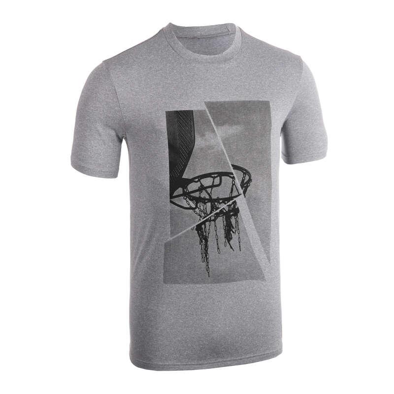 MAN BASKETBALL OUTFIT Basketball - T-Shirt TS500 - Grey Basket TARMAK - Basketball Clothes