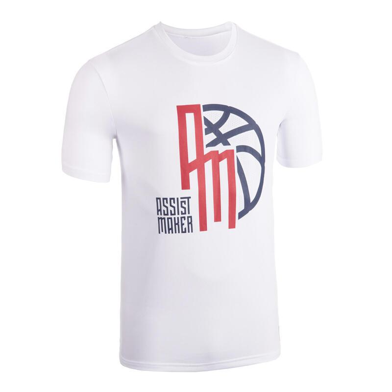Men's Basketball T-Shirt / Jersey TS500 - White Assist Maker