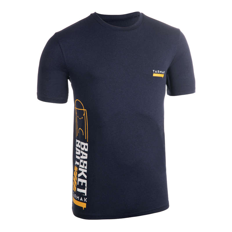 MAN BASKETBALL OUTFIT Basketball - Men's T-Shirt TS500 - Blue TARMAK - Basketball Clothes