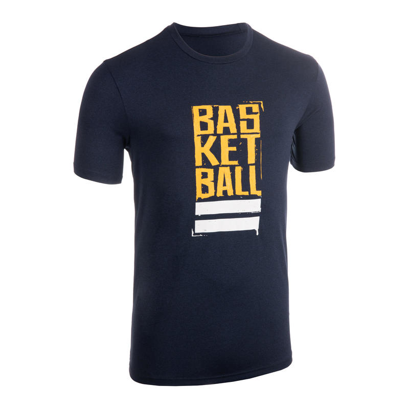 Men's Basketball T-Shirt / Jersey TS500 - Blue/Yellow Street