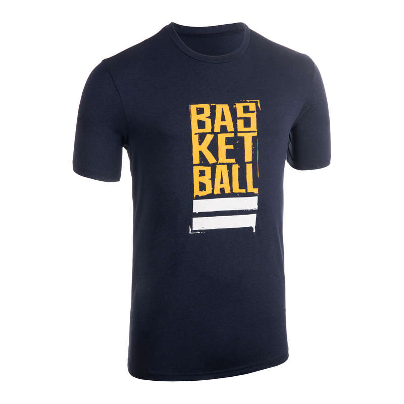 MAN BASKETBALL OUTFIT Basketball - Men T-Shirt TS500 Blue/Yellow TARMAK - Basketball Clothes
