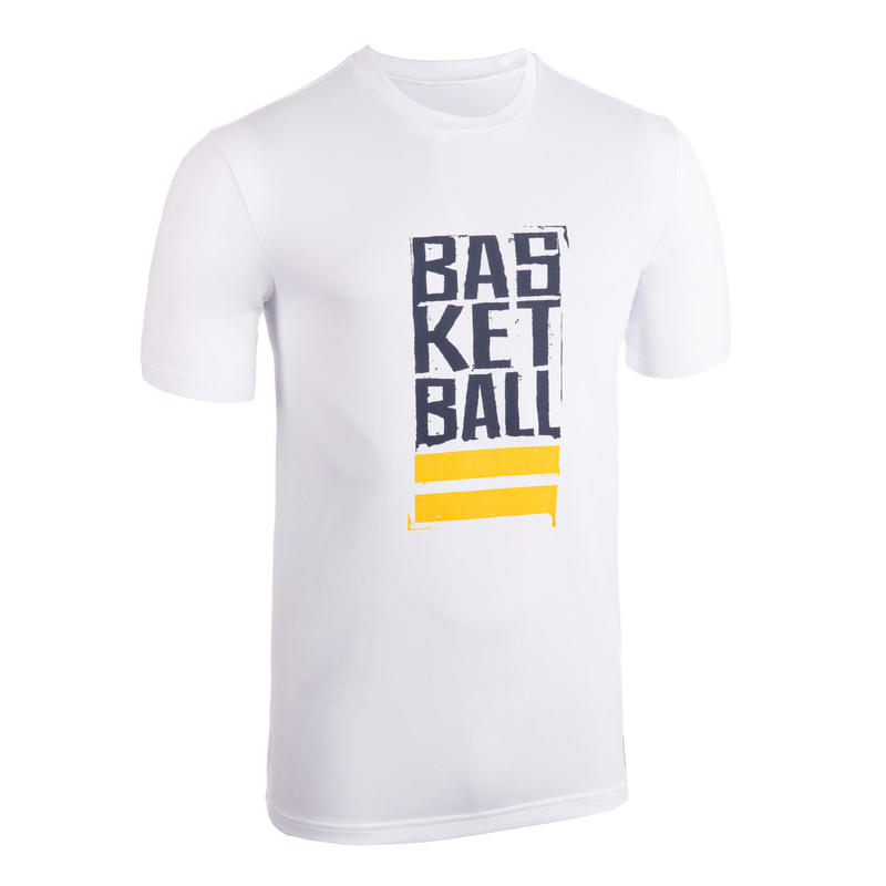 Men's Basketball T-Shirt / Jersey TS500 - White/Blue Street