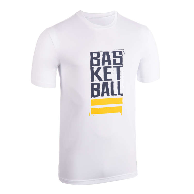 MAN BASKETBALL OUTFIT Basketball - Men's T-Shirt TS500 White/Blue TARMAK - Basketball Clothes