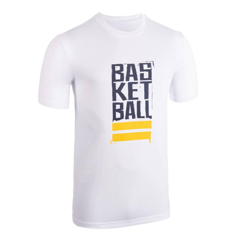 BASKETBALOVÉ OBLEČENÍ Basketbal - TRIČKO TS500 BÍLO-MODRÉ  TARMAK - Basketbalové oblečení a doplňky