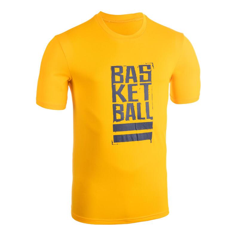 Men's Basketball T-Shirt / Jersey TS500 - Yellow/Blue Street