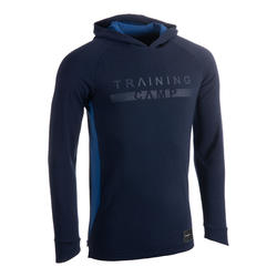 Men's Long-Sleeved Hooded Shooting Shirt T-Shirt TS500 - Navy