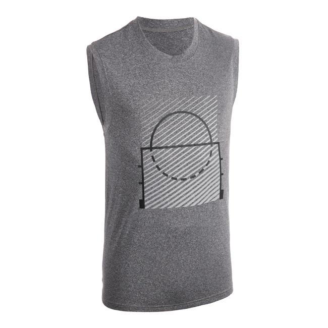 Men's Sleeveless Basketball T-Shirt / Jersey TS500 - Grey Racket