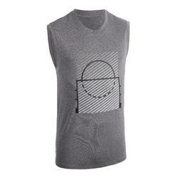 男款籃球T恤/運動衫TS500 - 灰字
