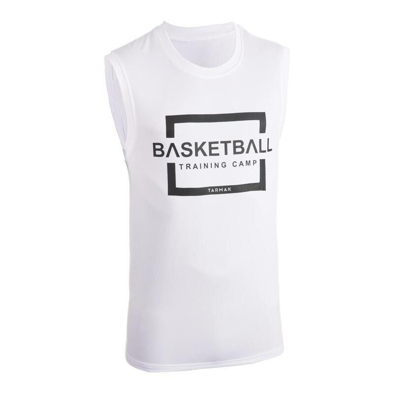 Erkek Basketbol Forması - Beyaz / Training Camp Baskılı - TS500