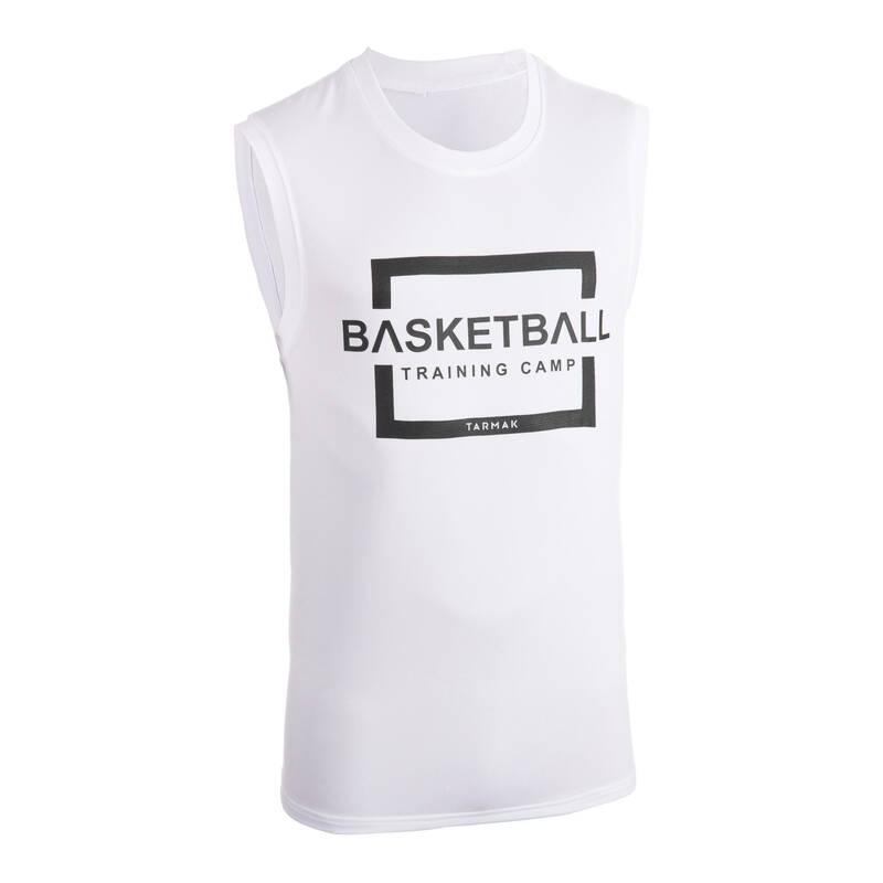 BASKETBALOVÉ OBLEČENÍ Basketbal - DRES TS500 BÍLÝ TARMAK - Basketbalové oblečení a doplňky