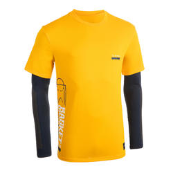 Men's Basketball T-Shirt with Built-In Sleeves 900 - Yellow Street