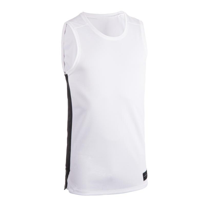 Men's Sleeveless Basketball Jersey T500 - White