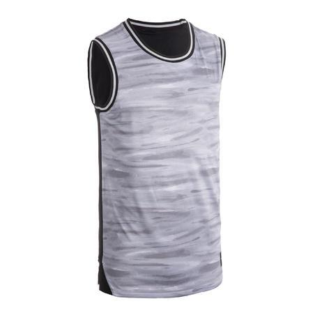 Men's Reversible Basketball Jersey / Tank Top T500R - Grey/Black