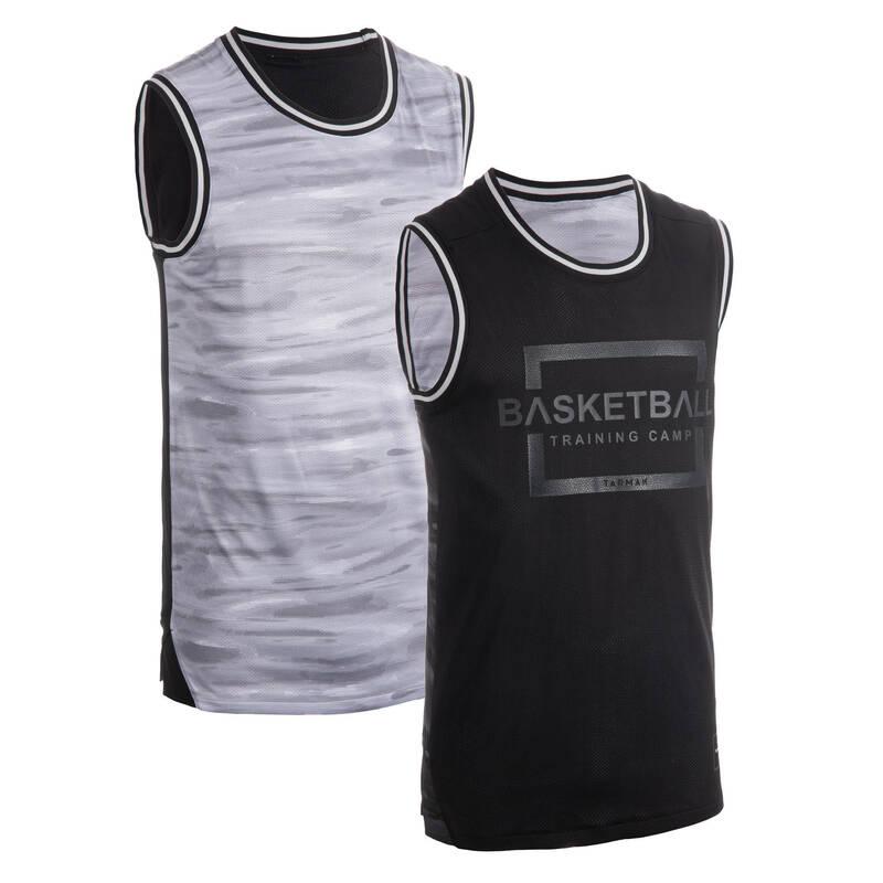 BASKETBALOVÉ OBLEČENÍ Basketbal - DRES T500R MODRO-ŠEDÝ TARMAK - Basketbalové oblečení a doplňky