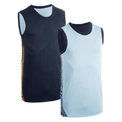 Men's Reversible Basketball Jersey / Tank Top T500R - Pastel Blue / Navy