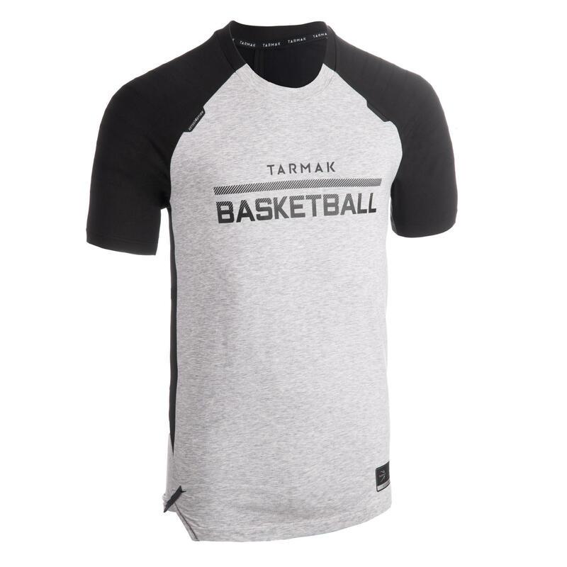 Basketbalshirt voor heren TS900 grijs