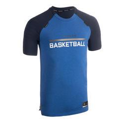 男款籃球T恤/運動衫TS900 - 藍色