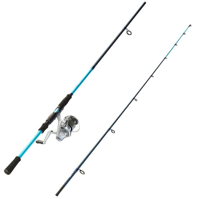 Set hengel met werpmolen voor zeevissen op zeekat en pijlinktvis UKIYO-100 230