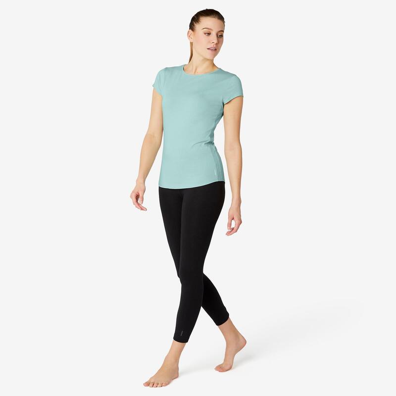 Women's Pilates & Gentle Gym T-Shirt 520 - Green