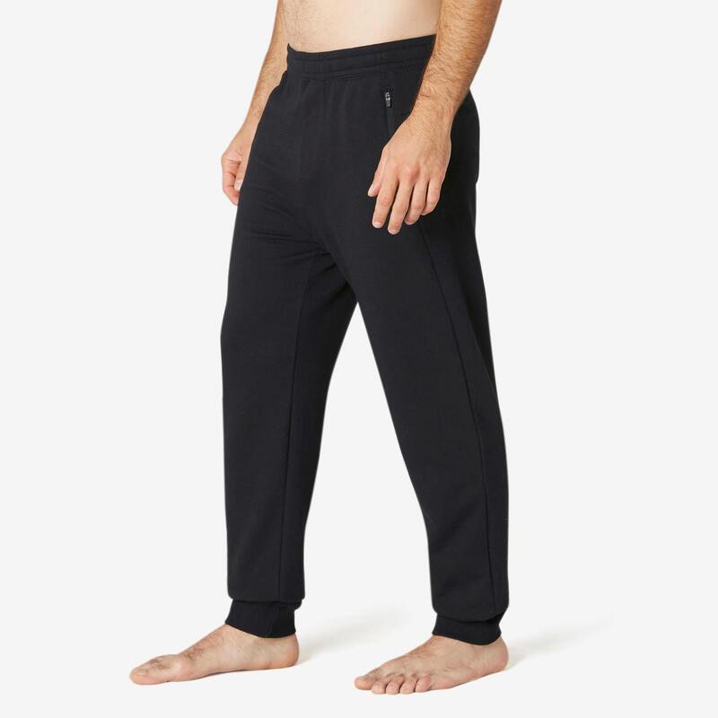 Pantalon jogging Fitness Poche Zippées Noir