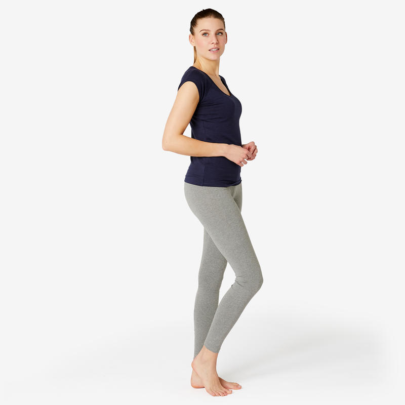 Fitness Cotton Leggings Fit+ - Grey