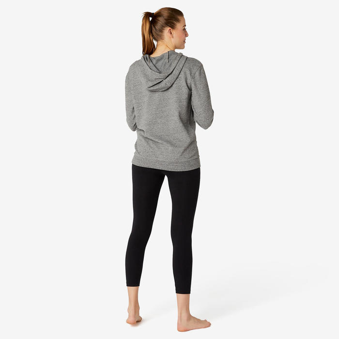 Sweat capuche Fitness Gris