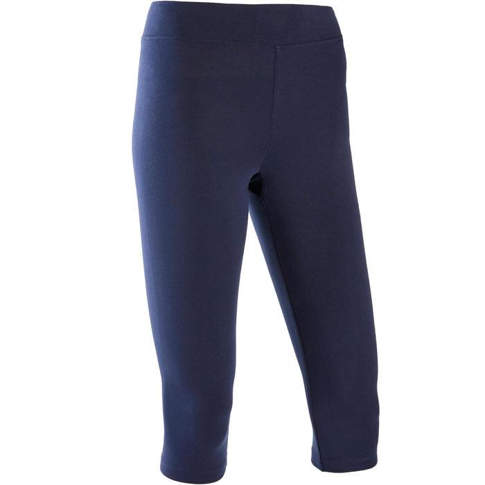 Corsaire Sport Pilates Gym Douce Femme Fit+500 Slim Bleu Marine