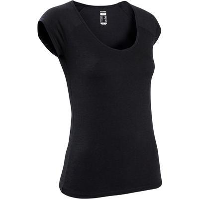 Camiseta Slim 500 mujer negro