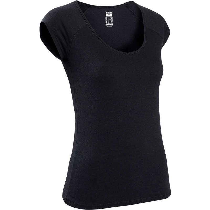 WOMAN T SHIRT LEGGING SHORT Clothing - Air+ Gym T-shirt Black DOMYOS - Tops